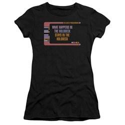 Star Trek - Juniors Holodeck Secrets Premium Bella T-Shirt