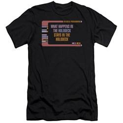 Star Trek - Mens Holodeck Secrets Premium Slim Fit T-Shirt
