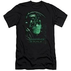 Star Trek - Mens Resistance Is Futile Premium Slim Fit T-Shirt