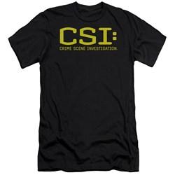 Csi - Mens Logo Premium Slim Fit T-Shirt
