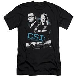 Csi - Mens Investigate This Premium Slim Fit T-Shirt
