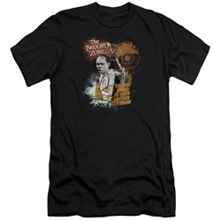 Twilight Zone - Mens Enter At Own Risk Premium Slim Fit T-Shirt