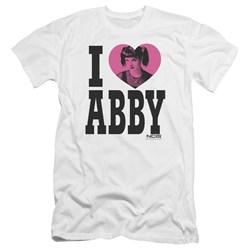 Ncis - Mens I Heart Abby Premium Slim Fit T-Shirt