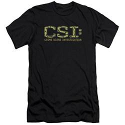 Csi - Mens Collage Logo Premium Slim Fit T-Shirt