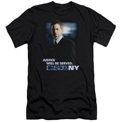 Csi:Ny - Mens Justice Served Premium Slim Fit T-Shirt