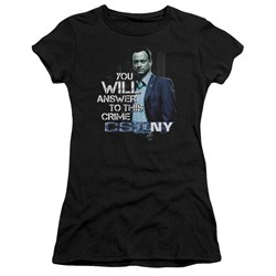 Csi Ny - Juniors You Will Answer Premium Bella T-Shirt
