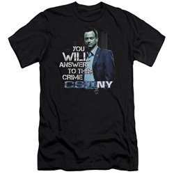 Csi Ny - Mens You Will Answer Premium Slim Fit T-Shirt