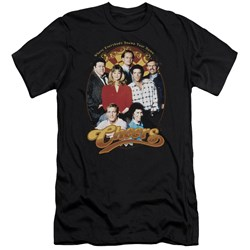 Cheers - Mens Group Shot Premium Slim Fit T-Shirt