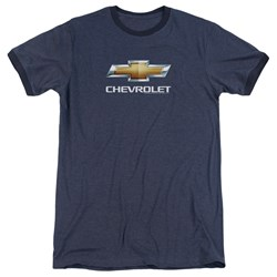 Chevrolet - Mens Chevy Bowtie Stacked Ringer T-Shirt