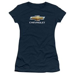 Chevrolet - Juniors Chevy Bowtie Stacked T-Shirt