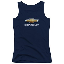 Chevrolet - Juniors Chevy Bowtie Stacked Tank Top