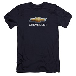Chevrolet - Mens Chevy Bowtie Stacked Premium Slim Fit T-Shirt