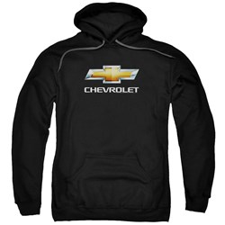 Chevrolet - Mens Chevy Bowtie Stacked Pullover Hoodie