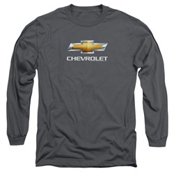 Chevrolet - Mens Chevy Bowtie Stacked Long Sleeve T-Shirt