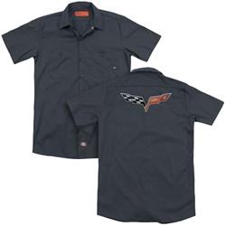 Chevrolet - Mens The Vette Medallion Work Shirt