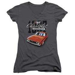Chevrolet - Juniors Classic Camaro V-Neck T-Shirt