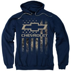 Chevrolet - Mens Camo Flag Pullover Hoodie