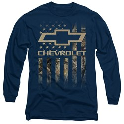 Chevrolet - Mens Camo Flag Long Sleeve T-Shirt