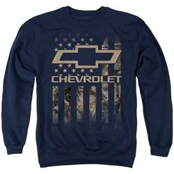 Chevrolet - Mens Camo Flag Sweater