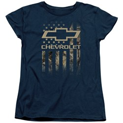 Chevrolet - Womens Camo Flag T-Shirt