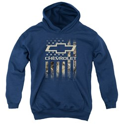 Chevrolet - Youth Camo Flag Pullover Hoodie