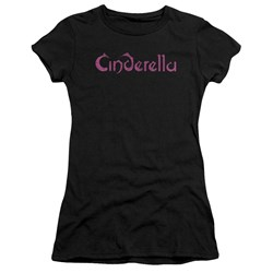 Cinderella - Juniors Logo Rough Premium Bella T-Shirt