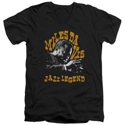 Miles Davis - Mens Jazz Legend V-Neck T-Shirt