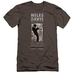 Miles Davis - Mens Miles Silhouette Premium Slim Fit T-Shirt