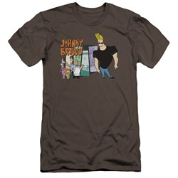 Johnny Bravo - Mens Johnny & Friends Premium Slim Fit T-Shirt