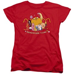 Adventure Time - Womens Outstretched T-Shirt