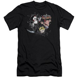 Billy & Mandy - Mens Splatter Cast Premium Slim Fit T-Shirt