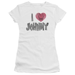 Johnny Bravo - Juniors I Heart Johnny Premium Bella T-Shirt