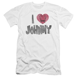 Johnny Bravo - Mens I Heart Johnny Premium Slim Fit T-Shirt