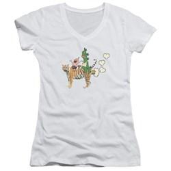 Uncle Grandpa - Juniors Fart Hearts V-Neck T-Shirt