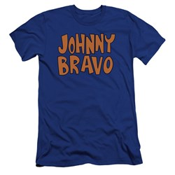 Johnny Bravo - Mens Jb Logo Premium Slim Fit T-Shirt