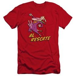 Cow And Chicken - Mens Al Rescate Premium Slim Fit T-Shirt