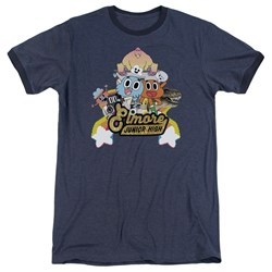 Amazing World Of Gumball - Mens Elmore Junior High Ringer T-Shirt