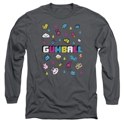 Amazing World Of Gumball - Mens Fun Drops Long Sleeve T-Shirt