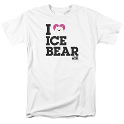 We Bare Bears - Mens Heart Ice Bear T-Shirt