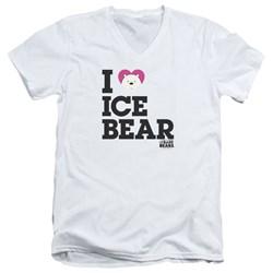 We Bare Bears - Mens Heart Ice Bear V-Neck T-Shirt