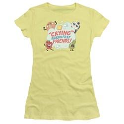Steven Universe - Juniors Crying Breakfast Friends T-Shirt