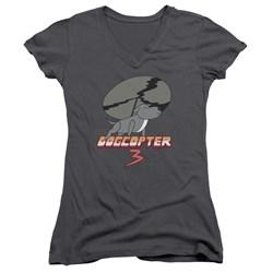 Steven Universe - Juniors Dogcopter 3 V-Neck T-Shirt