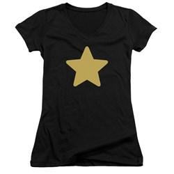 Steven Universe - Juniors Greg Star V-Neck T-Shirt