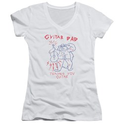 Steven Universe - Juniors Guitar Dad V-Neck T-Shirt