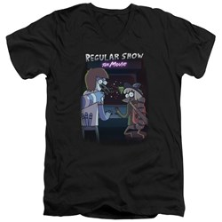 Regular Show - Mens Rs The Movie V-Neck T-Shirt