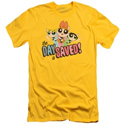 Powerpuff Girls - Mens The Day Is Saved Slim Fit T-Shirt