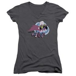Powerpuff Girls - Juniors I Am Bad I Am Evil V-Neck T-Shirt