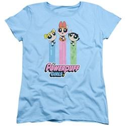 Powerpuff Girls - Womens The Girls Fly T-Shirt
