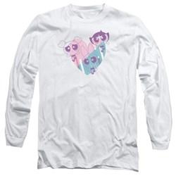 Powerpuff Girls - Mens Powerpuff Heart Long Sleeve T-Shirt