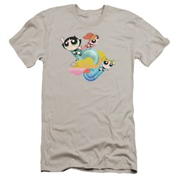 Powerpuff Girls - Mens Spiral Streaks Premium Slim Fit T-Shirt